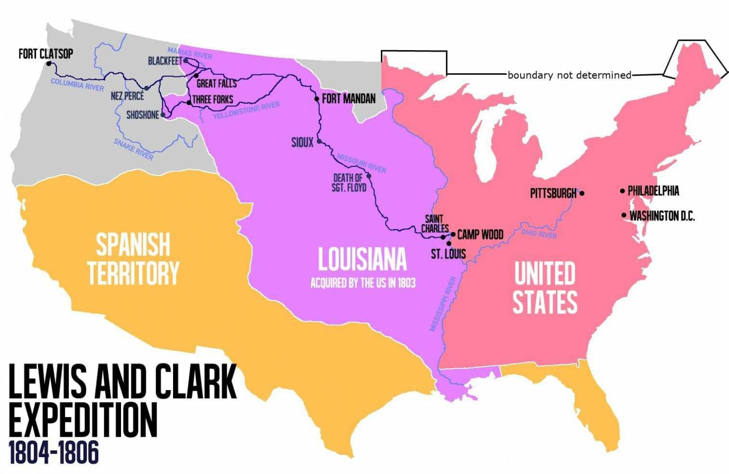 Lewis and Clark Route