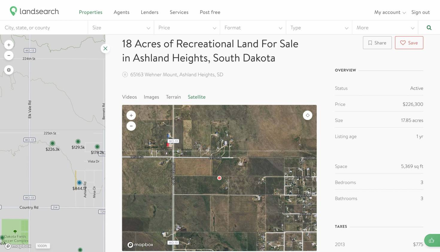 Mappable Land for Sale