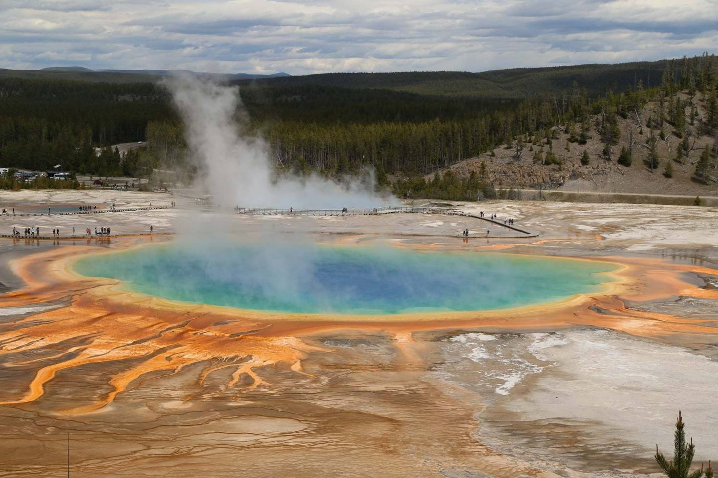 Prismatic Spring in Yellowstone National Park