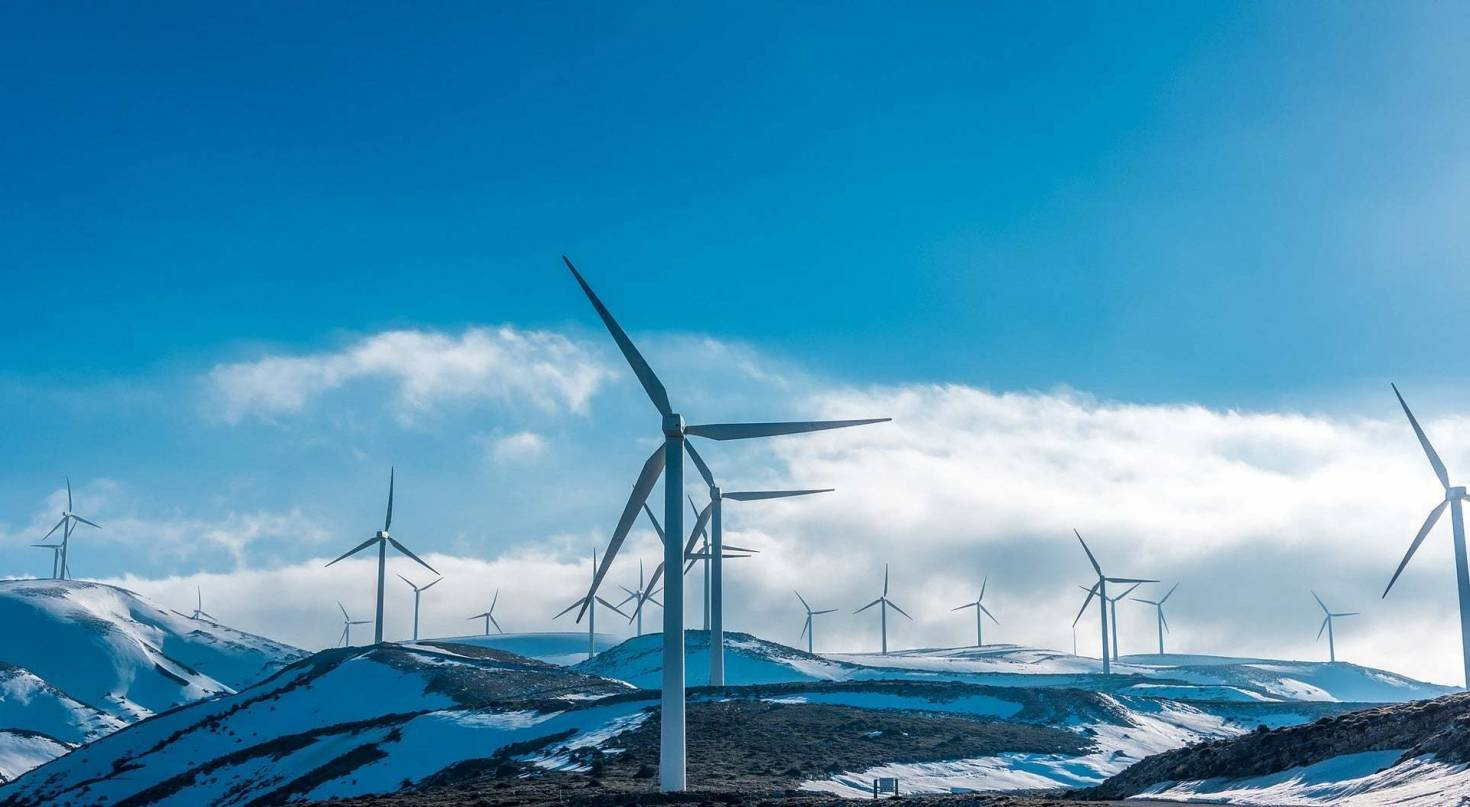 Snow Covered Wind Farm