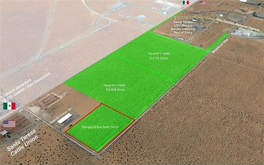 182 Acres of Agricultural Land for Sale in Santa Teresa, New Mexico