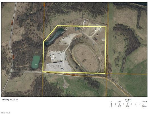 41 Acres of Commercial Land for Lease in Belmont, Ohio