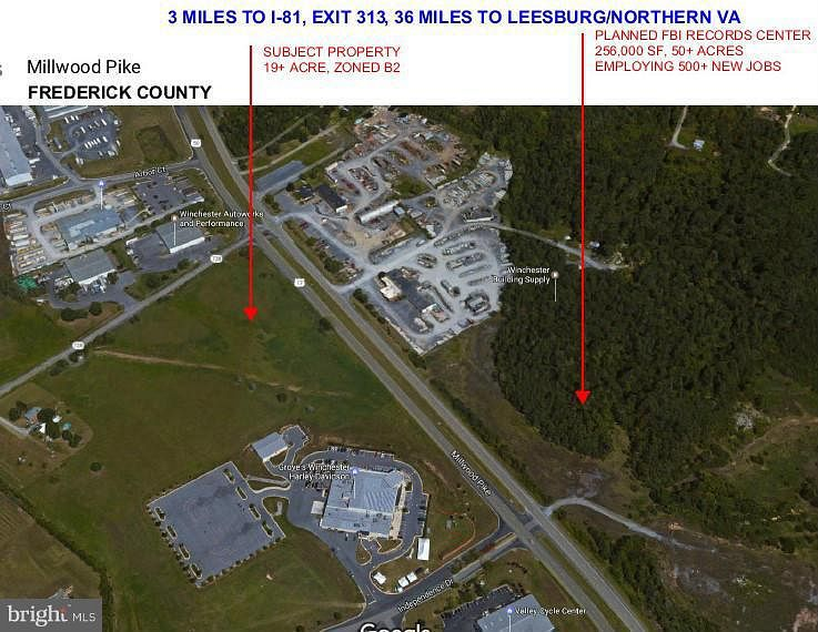 19.1 Acres of Commercial Land for Sale in Winchester, Virginia